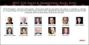 Top Sales & Marketing Awards 2015 Blog Post