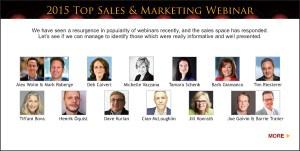 Top Sales & Marketing Awards 2015 Webinar