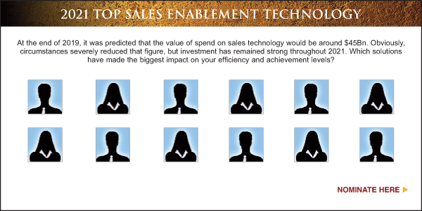 Nominate Top Sales & Marketing Sales Enablement Technology - 2021
