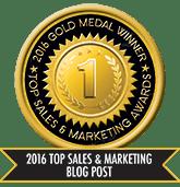 2016 Top Sales & Marketing Blog Post - Gold