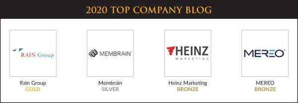 Top Sales & Marketing Awards 2020 - Company Blog - Winners