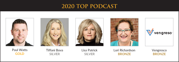 Top Sales & Marketing Awards 2020 - Podcast - Winners