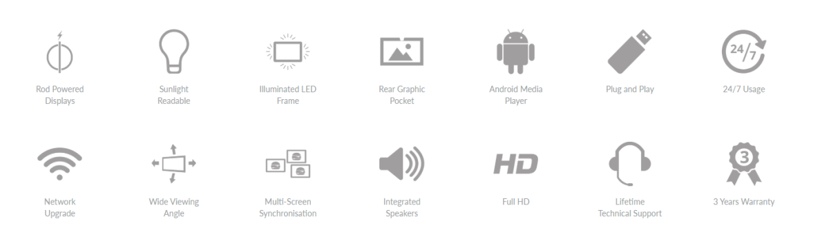 screen features