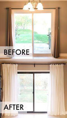 30 sliding door curtain ideas background