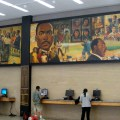 Searching for books in Lobby of MLK Library