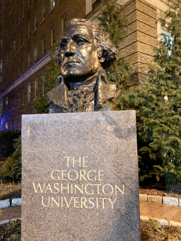Statue of George Washington at George Washington University D.C.