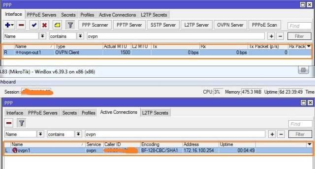 Cara Setting OpenVPN di MikroTik - interface openvpn-min