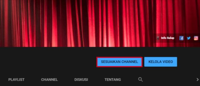 Tombol Sesuaikan Channel