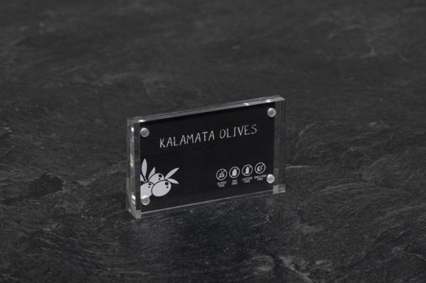 Acrylic Sign Block For Buffet or food display