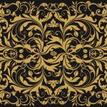 Waxed Food Paper Luxe Black with Gold Print