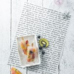 wax food paper french script