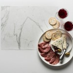 Wax food Paper White Marble with meat and cheese platter