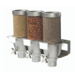 Triple Short Wall Mounted Food Dispenser with different spices