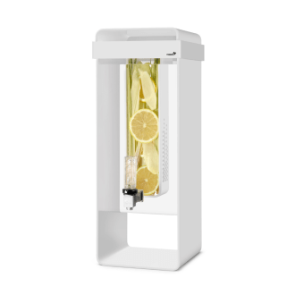tall white Acrylic Infusion Dispenser