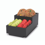 Small black Condiment Tray with three compartments for macarons and cookies