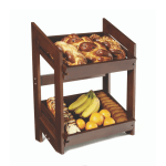 Market bakery Stand With 2 Trays with bread and fruits