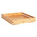 Large square bamboo tray for bakery