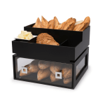 Black Bakery Drawer with Condiment divider tray on top