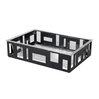 Large Ice Tub with Acrylic Insert – Black Matte Steel