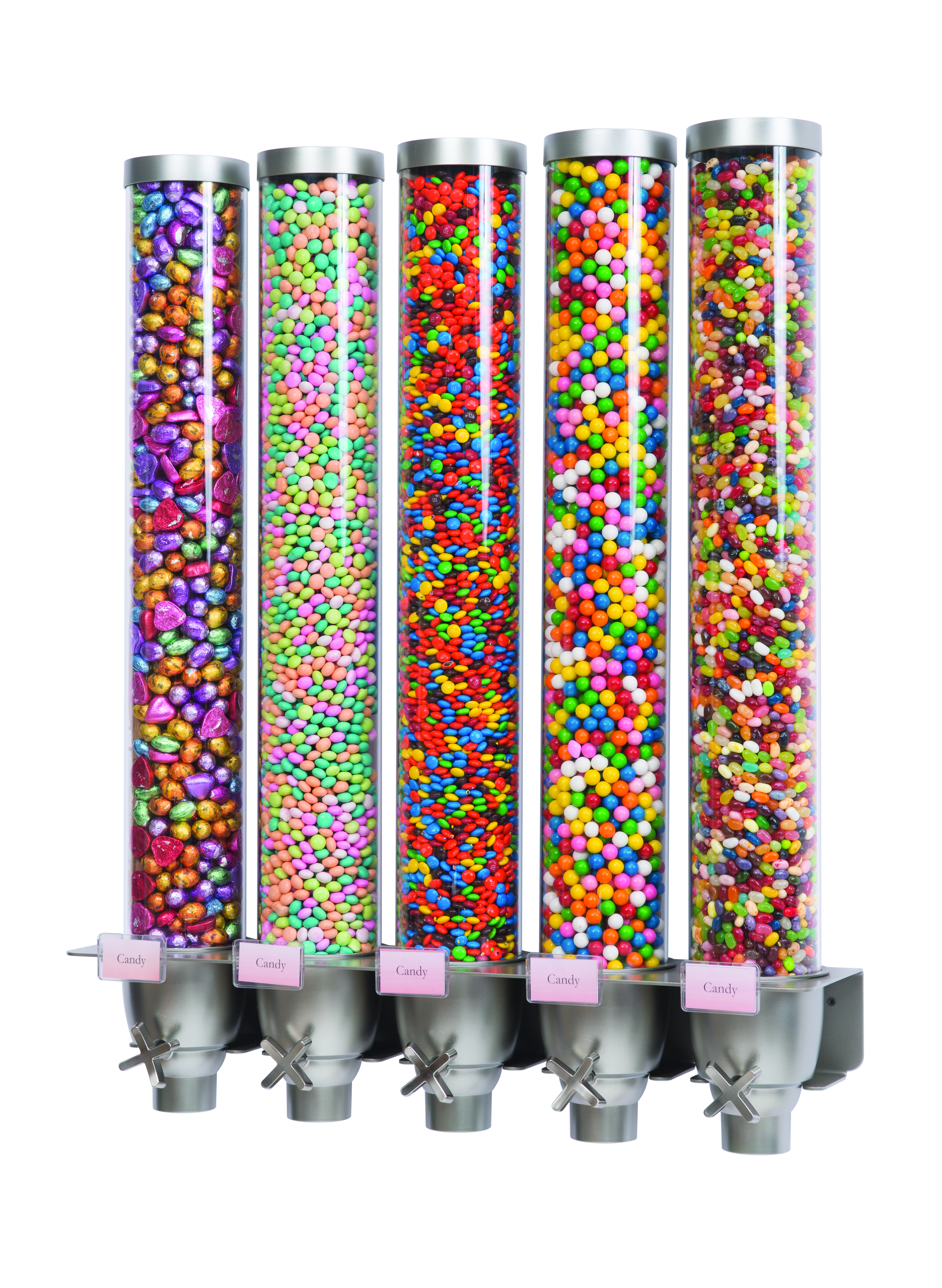Multi Cone Wall Mounted Dispenser Tall 5 Containers