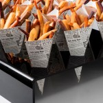 Acrylic Cone Holder With Square Holes For Chip 'n' Dip Cones