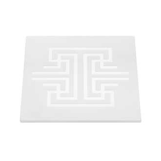 Square Patterned Melamine for buffet equipment – white