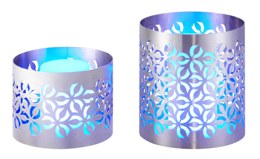 Iris Round Risers with Multicolour led lights