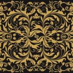 Luxe Black with Gold Print Waxed Food Paper