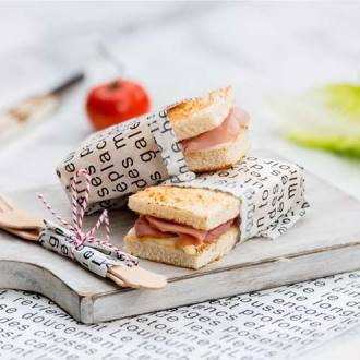 French Block Words Waxed Food Paper