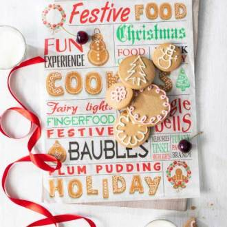 Wax Food Paper Christmas Cheer