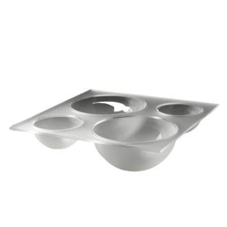 Acrylic square ice tray with bowl shape containers
