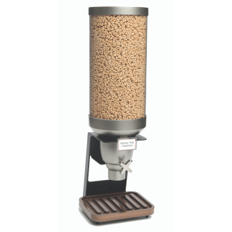 Cereal dispenser on stand airtight walnut bamboo base