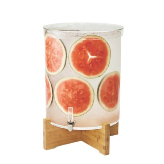 Rosseto Pool Beverage Dispenser With Bamboo Base 14 Gal