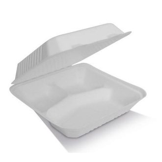 """9"""" Clamshell 3 Compartments Container"""