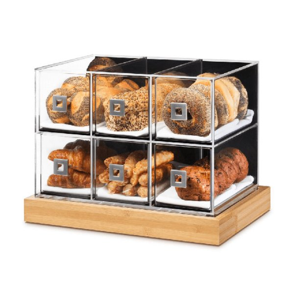 Acrylic Bakery Display Case - Rosseto Dome Drawer