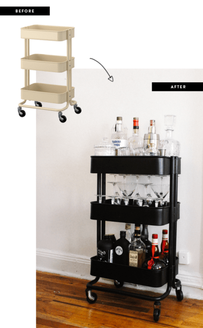 14 Amazing Ikea Bar Cart Hacks For Less Than 110 Part 1 Of Series