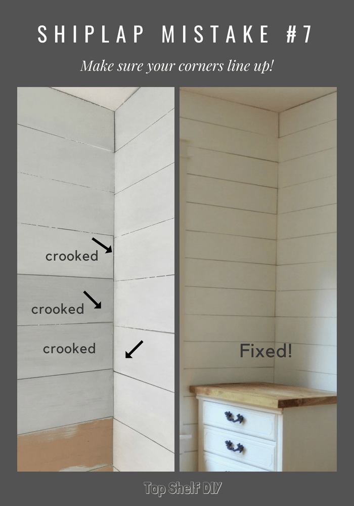 10 Mistakes to Avoid When Installing Faux Shiplap - Top Shelf DIY