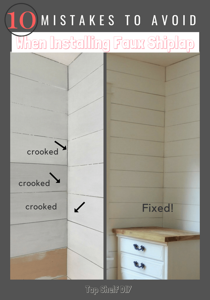 10 Mistakes to Avoid When Installing Faux Shiplap - Top