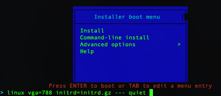 Ubuntu Mini.iso Boot Menu
