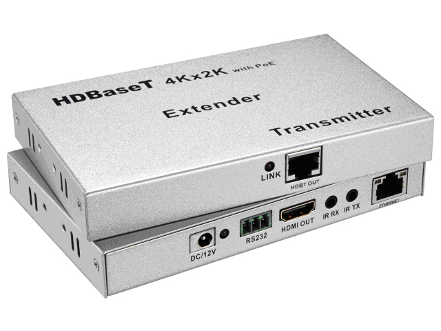 100M ultrathin HDBT Extender_Support HD BaseT,4Kx2K, POE , RS232,Bi-directional IR