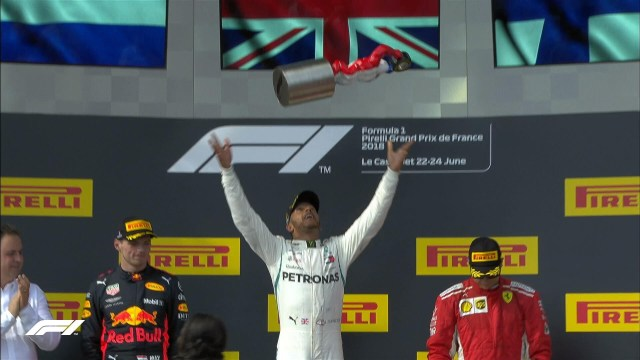 Hamilton, Verstappen, Raikkonen e Pagelline