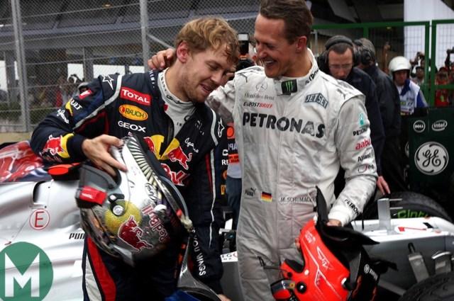 Vettel e Schumi