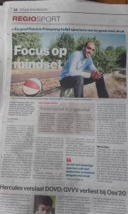 Artikel in het Algemeen Dagblad Patrick Frimpong
