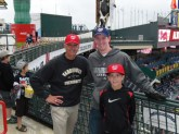 My dad, Joe, and me at Turner Field 2013