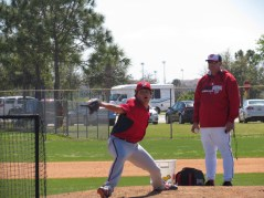 Pitcher at Nationals practice