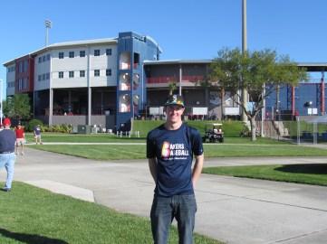 Me outside Space Coast Stadium