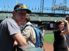 Me in the visitors dugout (TOP STEP)