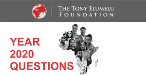2020 TONY ELUMELU FOUNDATION QUESTIONS (PDF DOWNLOAD)