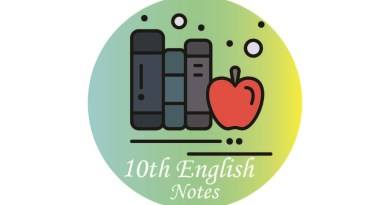 10th Class English Notes