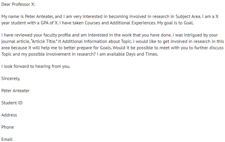 How to get Acceptance Letter from a Professor